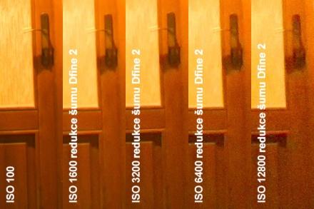 Automatická redukce šumu v Dfine 2, výřez 1:1 z originálního rozlišení (18 MPx)