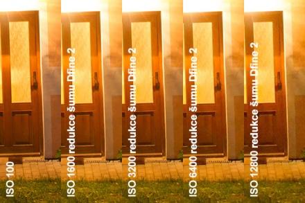 Automatická redukce šumu v Dfine 2, výřez 1:1 z rozlišení pro tisk 15 x 10 cm