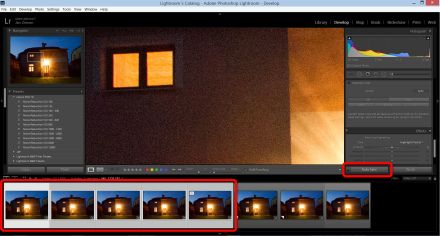 Adobe Photoshop Lightroom modul Develop