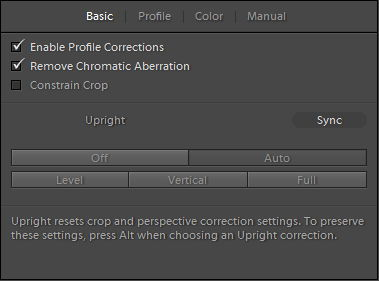 Adobe Photoshop Lightroom Lens Corrections