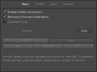 Adobe Photoshop Lightroom Lens Corrections