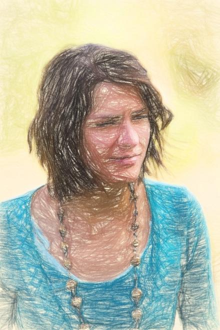Převod na kresbu pastelkou v Topaz Impression