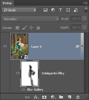 Panel Vrstvy s obrazovou vrstvou převedenou na inteligentní objekt