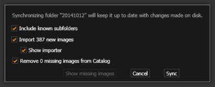 14101601_202_Capture_One_Pro_8_Synchronize_Folder_dialog_box