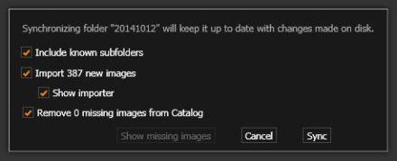 14101601_202_Capture_One_Pro_8_Synchronize_Folder_dialog_box
