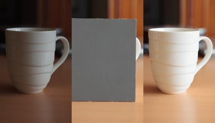 Práce s šedou tabulkou měření expozice šedá tabulka