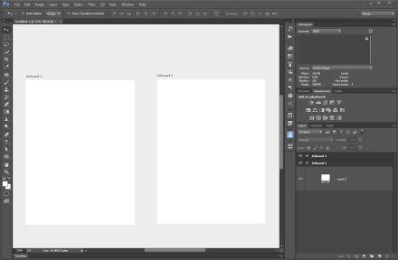 Adobe Photoshop CC 2015 Artboards kreslící plátno