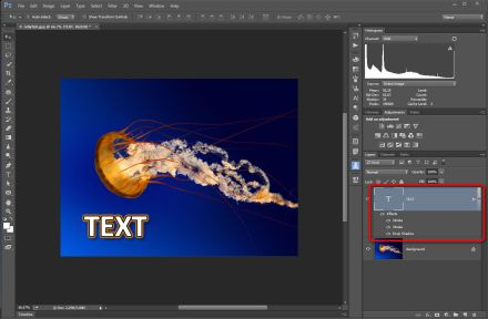Adobe Photoshop CC 2015 Layer style náhled efektu